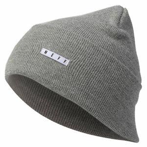 Neff-Men-039-s-Lawrence-Beanie-Gray-Heather-Headwear-Cold-Snow-Winter