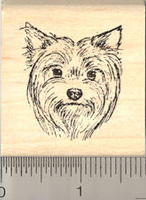 Yorkie Cairn Terrier Terrier Dog Rubber Stamp Westie