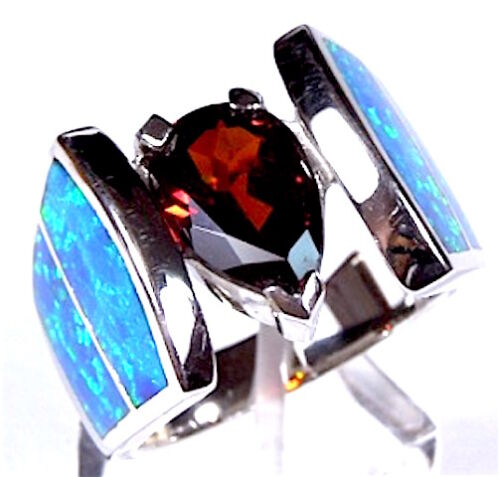Multi color Black Onyx /& Fire Opal Inlay 925 Sterling Silver  Earrings 3/'/' long