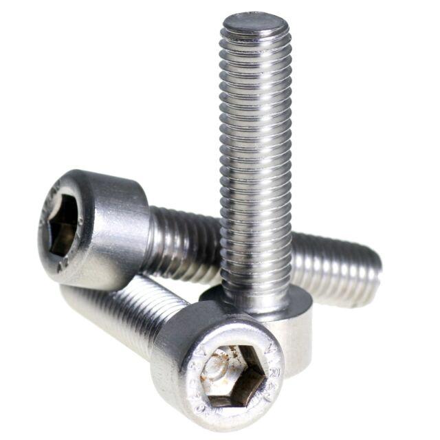 Aerospace Grade 2pcs M7 x 45 Titanium Ti Screw Bolt Allen hex Socket Cap head