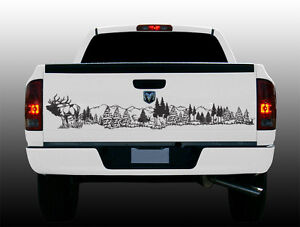 Wildlife Tailgate Graphic Elk Scene 60 Quot X 12 Quot Vinyl Decal