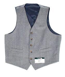 Lauren by Ralph Lauren Mens Suit Separate Gray Size Large L Vest Wool $125 #081