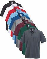Russell Mens Mans Plain Polycotton Polo Golf Sports Shirt S-6XL