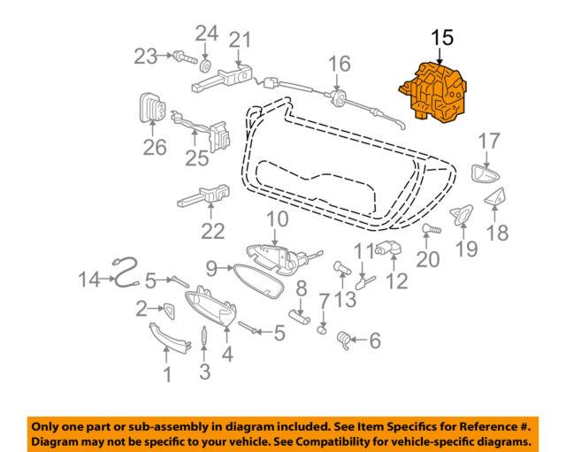 Porsche Carrera Boxster 911 Left Driver Door Lock Mechanism Genuine 3D1837015C