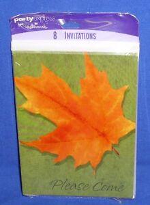 hallmark thanksgiving autumn fall party invitations orange maple