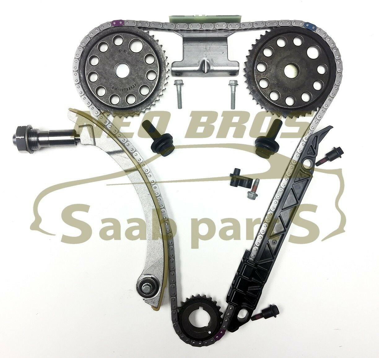 Vauxhall & Opel Z20NET 2.0T Genuine Timing Chain Kit for Saab 9-3 ...