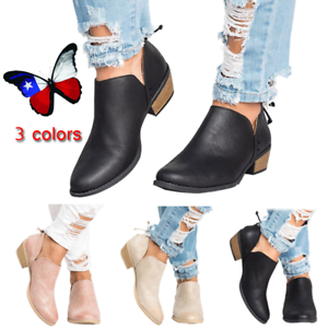 New-Autumn-Winter-Women-Boots-Solid-Lace-PU-Fashion-Fur-Martin-Boots