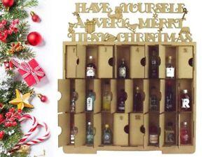 Adviento Calendario.Detalles De Laser De Corte De Tamano Super De Navidad Adviento Calendario Con Puertas Para Adaptarse A Alcohol Mini S Ver Titulo Original