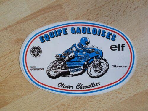 Sticker Motorcycle Team Gauloises Olivier Chevallier