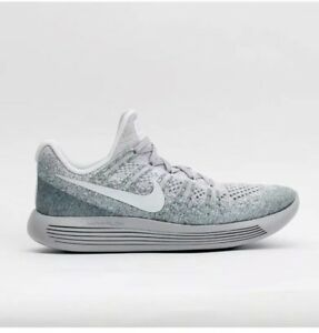 8cdef800160b Nike Lunarepic Low Flyknit 2 Platinum Grey Mens Running Shoes 863779 ...