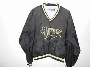 Image is loading Vintage-Pittsburgh-Steelers-Chalk-Line-NFL-Pullover-Coat- 11ad7db86