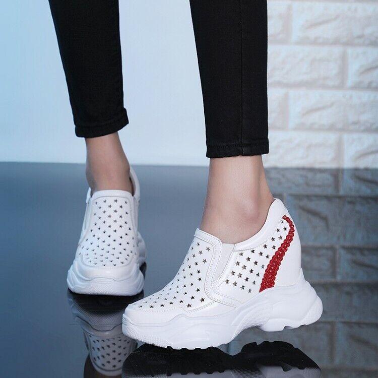 Donna High Wedge Heel Hollow out Sports Casual scarpe Fashion Trainers scarpe da ginnastica