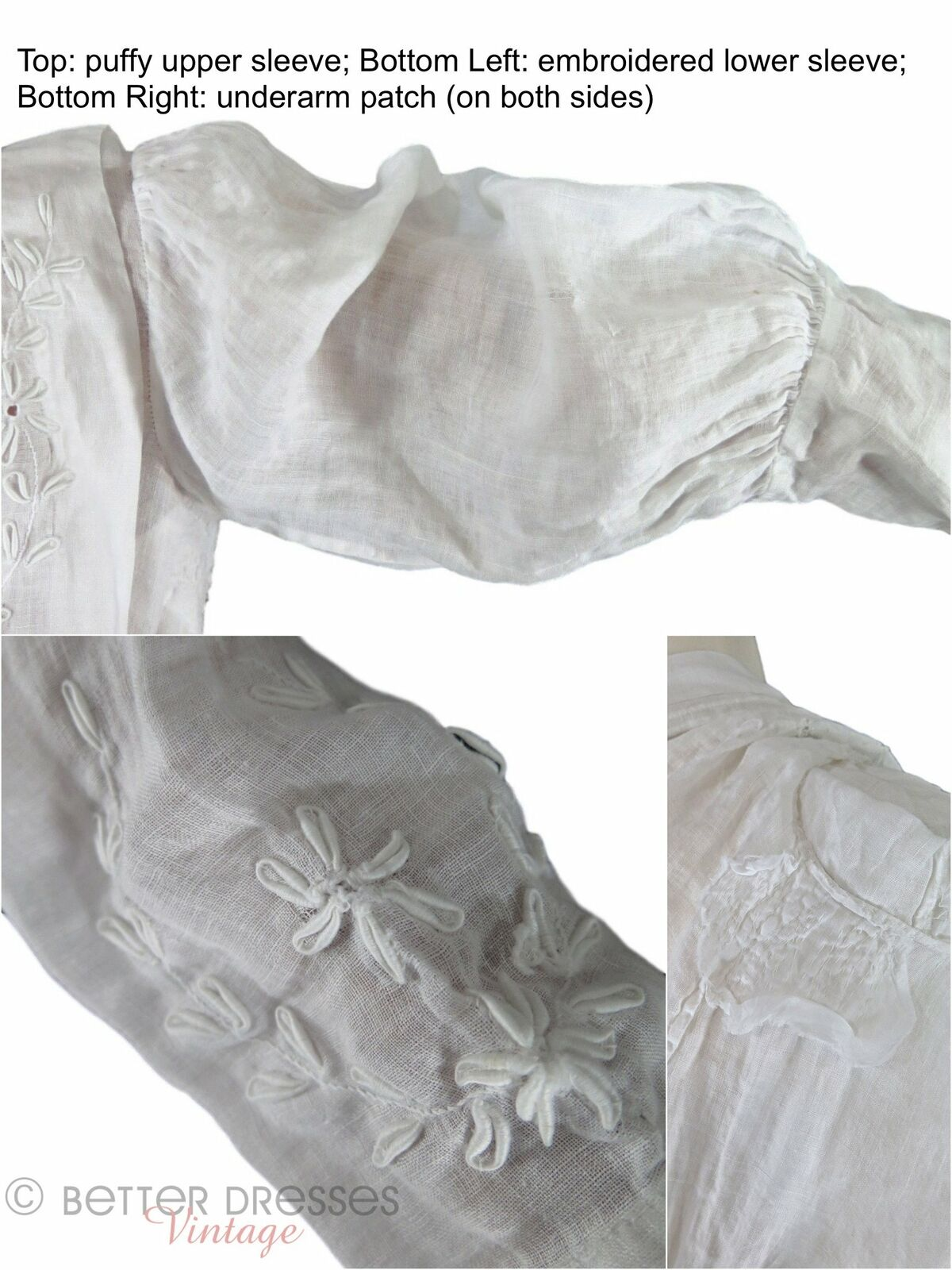 Antique Embroidered Blouse - xs, sm - image 7