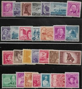 US-Scott-953-80-Individuales-1948-Completo-Ano-FVF-MNH