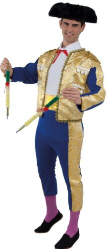 Déguisement Homme TORERO Luxe bleu doré XL Adulte Matador Espagnol NEUF