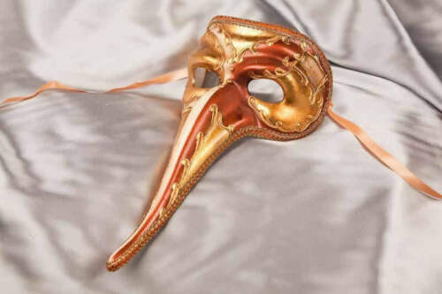Venetian Character Long Nose Masks Scaramouche Double