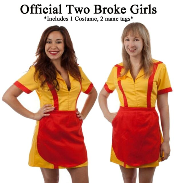 OFFICIAL Adult TV Show Two 2 Broke Girls Max and Caroline Diner Waitress Costume