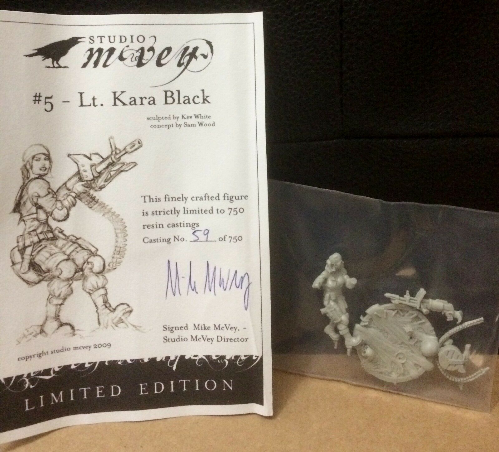 Studio McVey Fantasy Mini 28mm Kara's Last Stand Resin Limited Ed. WH40k Guard