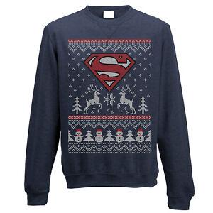Superman-Christmas-Sweatshirt-Reindeer-amp-Snowman-Xmas-Official-Jumper-Small-NEW