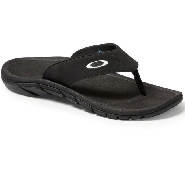 53a64df1e95 Oakley Super Coil Black Flip Flops Thong Sandals UK 5 EU 38.5 USA 6 ...