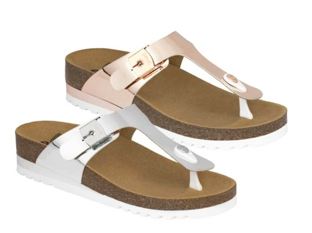 SCHOLL GLAM SS 1 BioPrint sandals flip-flops slippers woman wedge leather