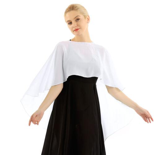 US# Women Half Sleeve Chiffon lace Shrug Shawl Bolero Cardigan Ladies Crop Tops