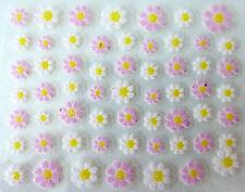 Accessoire ongles: nail art - Stickers autocollants - fleurs roses et blanches