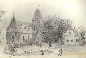 Guido-Kainzbauer-unbekannte-Kirche-1902-Passau-Regensburg-Kotzting-Zeichnung