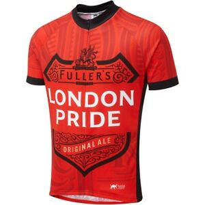 S/S CYCLING JERSEY.SMALL.FULLERS LONDON PRIDE DESIGN.NEW WITH TAGS IN PACKAGING.