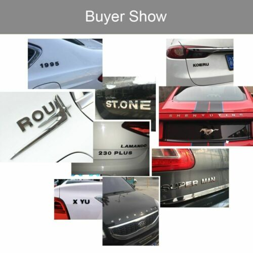 3D Metal Letters Stickers For Car Chrome Logo Emblem Car Accessories 25mm Trendy