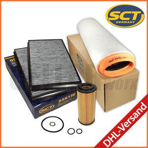 BMW-5er-E60-E61-525d-530d-Filter-Filterset-Filterpaket-Filtersatz-Filterkit-3tlg