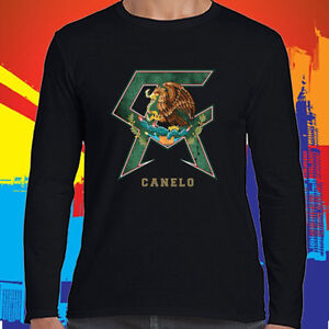 53a68573a9ce Image is loading SAUL-ALVAREZ-CANELO-Boxing-Champion-Logo-Long-Sleeve-