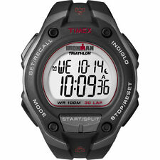 "Timex T5K417, Men's ""Ironman"" Black Resin Watch, Alarm, Indiglo, T5K4179J"