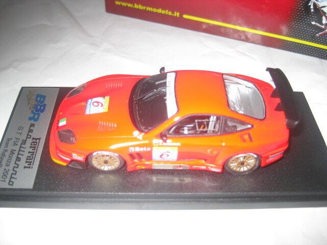 BBR bg229 ferrari 550 millenio FIA GT monza 2001 Team rafanel 1 43 nuevo en OVP