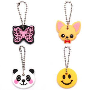 Silicone-Butterfly-Dog-Key-Cover-Cap-Keychain-Key-Ring-PVC-Key-Case-Gift-NeBFF