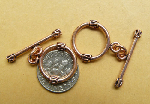 Copper Toggles and hook/&eye different styles multi packs low price Findings