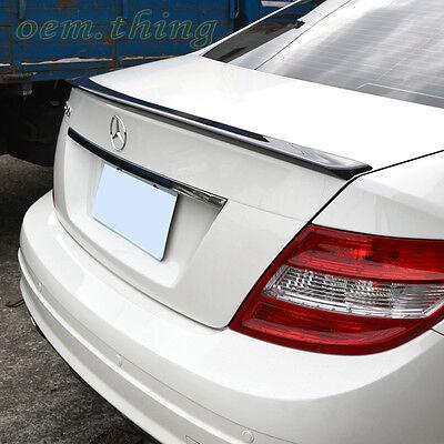 Mercedes Benz W204 Sedan C-Class Trunk Lip Spoiler 08 PUF C180 C250 C300 C63 ○