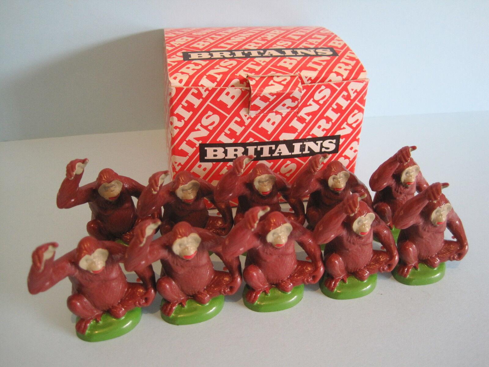 BRITAINS Plastic Zoo Animals  TRADE BOX of x10 ORANGUTAN