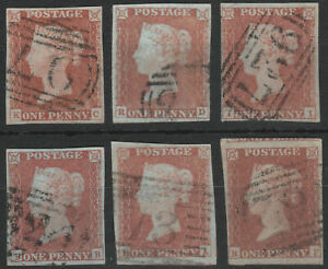 1841-SG8-1d-RED-BROWN-SHADES-PLATED-4-MARGINS-GOOD-FINE-USED-SELECTION-8