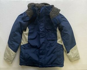 Columbia-Blue-Hooded-Waterproof-Winter-Jacket-Puffy-Ski-Coat-Youth-Size-10-12