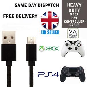 Noir-Cable-De-Chargeur-Pour-PS4-Dualshock-4-controleurs-Micro-USB-Charging-Lead