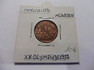 Humour Ancienne Petite MÉdaille Jo Munich 1972 - Superbe - LivrÉe Sous Étuis !