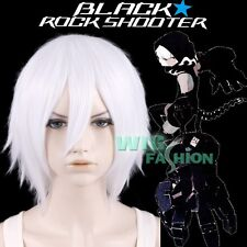 Black Rock Shooter Animation Strength Short White Anime Cosplay Wig