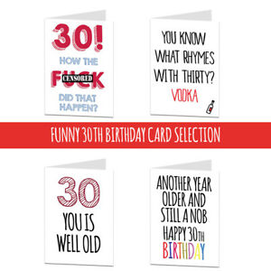 Image Is Loading 30 30th Birthday Card Cards For Men Women