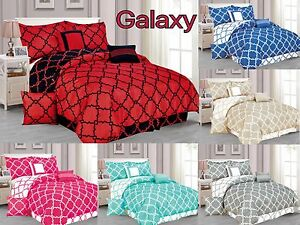 Galaxy 7 Piece Comforter Set Reversible Soft Oversized Bedding Bed