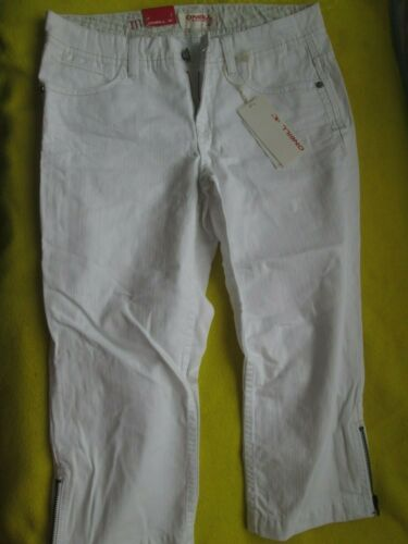 O /'Neill Femme Blanc Denim Longueur 3//4 Capri Crop Pantalon Jeans Taille 26 UK 6 NEUF