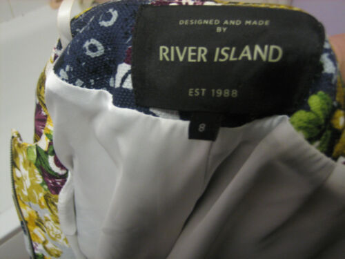 jakke 8 ø størrelse kvindelig dejlig flod En lynlås design blomst stilfuld q0ZwaOTP