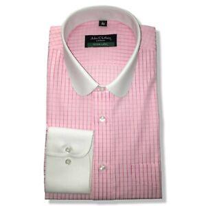 Nachdenklich Peaky Blinders Herren Shirt Pink Kariert Banker Penny Club Kragen Opa Herren Bereitstellung Von Annehmlichkeiten FüR Die Menschen; Das Leben FüR Die BevöLkerung Einfacher Machen Klassische Hemden