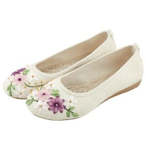 e45b10a9e2ea Image is loading Chinese-Retro-Embroidered-Floral-Loafer-Shoes-Women- Ballerina-