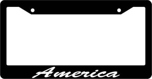 Black License Plate Frame CURSIVE America Auto Accessory 1048